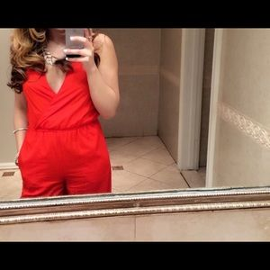 Red Bebe Jumpsuit